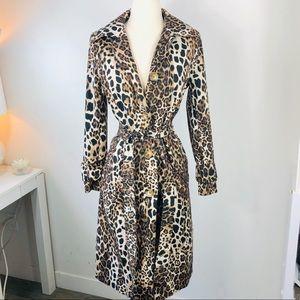 Leopard Helene Berman Trench Coat Anthropologie 4